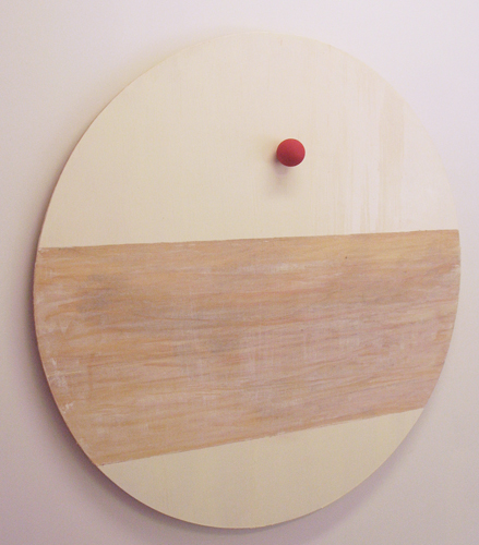Jason Nickels. Bindi, 2008. oil and wood on plywood. 36 inches diameter.