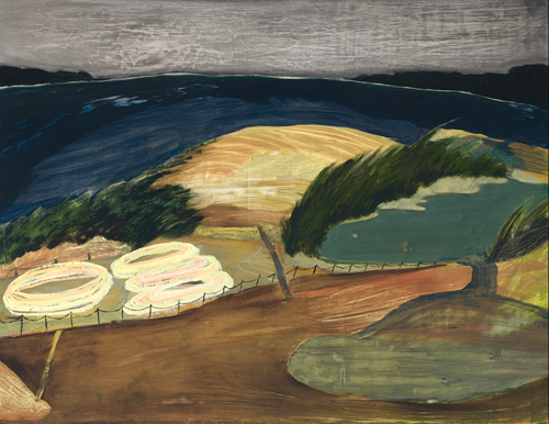 Rebecca Suss. Three Ponds. 11 x 14 inches. oil on foam. 2009.