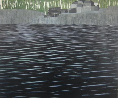 Rebecca Suss.  Quarry (Dorset). 60 x 72 inches. oil on canvas. 2009.