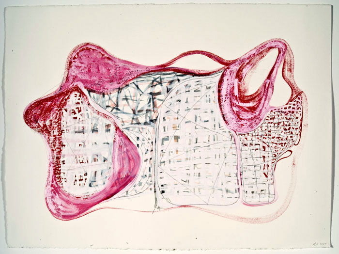 Frank Jackson. Map of the World #2. 2007. Gouache, water color, and pencil on paper. 11 x 15 inches.