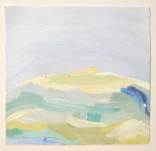 Rebecca Suss. Glacier #1, 2008. oil on paper. 7 x 7 inches.