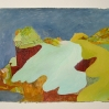 Rebecca Suss. Cliffs, 2008. oil on paper. 10 x 15 inches.