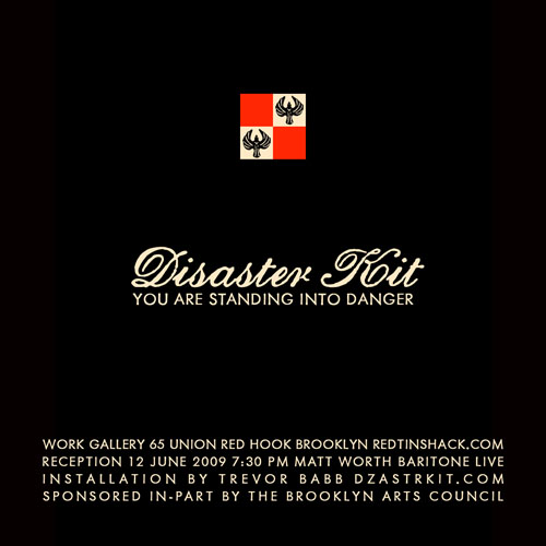 Disaster Kit: This Show Could Save Your Life. June 12 - July 13, 2009