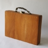 TREVOR BABB. Briefcase, 2007.  Mahogany, brass, leather, glass, rubber, cork, mixed contents.  26