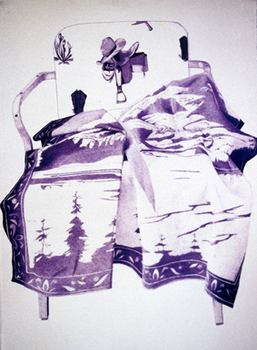Chris Domenick. Still Life with Cowboy Hat, 2008. ball point pen and polyurethane on paper. 30 x 41 inches
