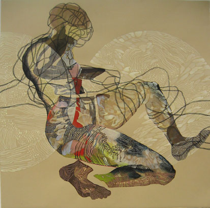Anne Pearce. The Humours Series #1-6, 2008. ink, pen and colored pencil on paper. 22 x 22 inches