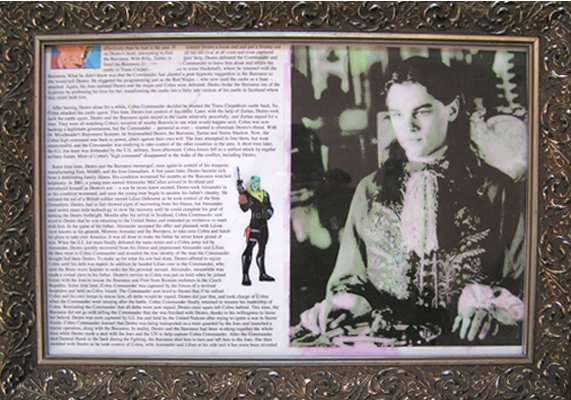 Jonathan Bridges. Big Boy (accompanying frame). 2007. ink jet print, wood frame. 18 x 15 inches.