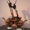 Jonathan Bridges. Guardians of Possibility. 2005. Porcelain, Bronze, Liquid Plastic, Earthenware, Taxidermy Eyes, Wax, Wood, Antique Cameos, Swardovski Crystal. 30 x 12 x 58 inches.