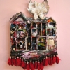 Mary Johnson. Once Upon a Time. 2008. Mixed Media, Cast Iron, LED Lights. 18 x 15 x 3 inches.