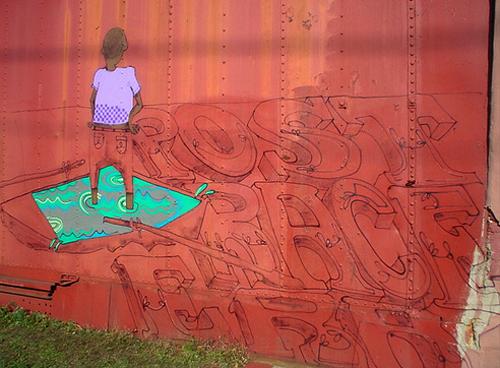 Love Billy. Post-Race Era, 2010. Spray paint on railroad car, Dikeman Street, Brooklyn.