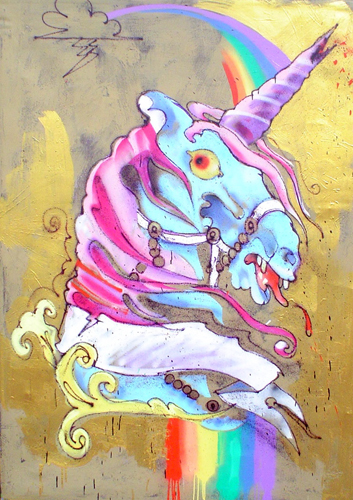Love Billy. TCB, 2010. Spray paint on canvas. 60 x 48 inches.