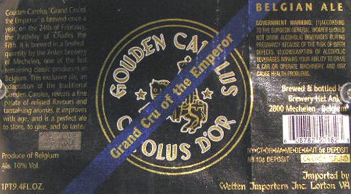 Hank Shteamer. Grand Cru of the Emperor beer label (Belgium). Brewed one day each year.