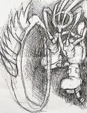 Marco Bon. Pen on paper.