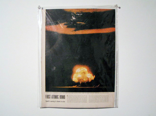 Walker Waugh. LIFE Magazine July 1945. Color photograph of explosion of first atomic bomb, New Mexico.
