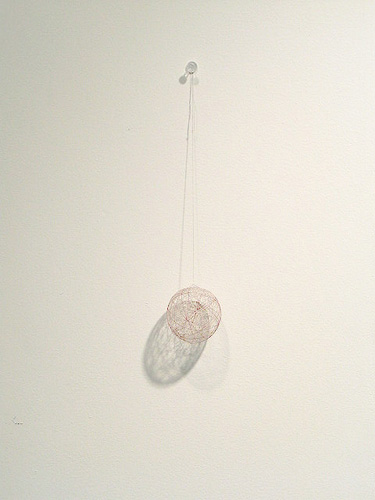 Rebecca Widiss. Twine ball. 2 inch diameter.