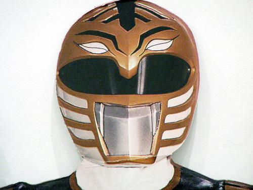 Hall O\'Donnell. Cardboard Power Ranger (detail).