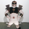 Hall O\'Donnell. Cardboard Power Ranger (seated).