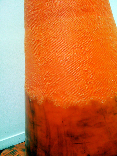 Kelly Goff. Endodermis. 2009. Exfoliated traffic cone. 10 x 10 x 24.