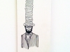 Dana Williams. I\'m Sorry Aunt Jemima. 2009. ink and paper on wood. 6 x 10 inches.