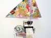 Ryan Brennan. Washing Memories. 2009. Collage sculpture. 25 x 16 x 7 inches.
