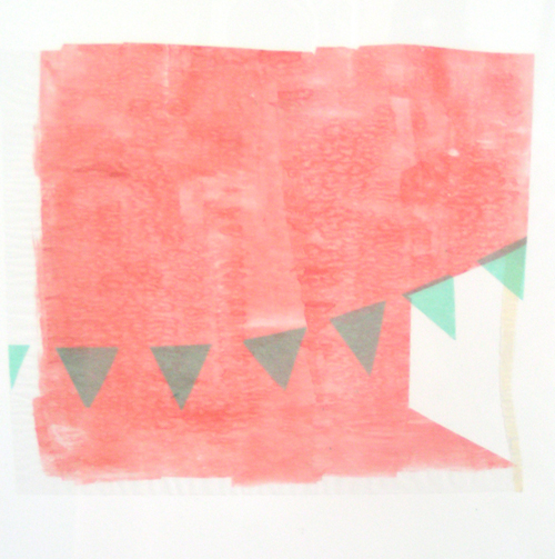 Hannah Barnes. Untitled Drawings. 2008. watercolor, paper, graphite. 9 x 9 inches framed.