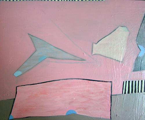 Hannah Barnes. Little Flood. 2008. oil on wood. 10 x 12 inches.