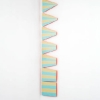 Kristine Taylor. Tweener. 2007. enamel, oil paint, aluminum, wood. (dimensions variable) 10 x 2 feet.
