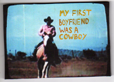 Gabriela Vainsencher. Cowboy Boyfriend, 2008. marker on digital print. 4 x 4 inches.